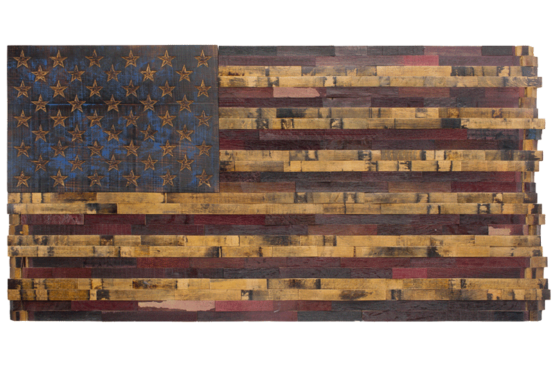 The Old Glory Series - Barrel Wood American Flags - Page 1 - The Heritage Flag
