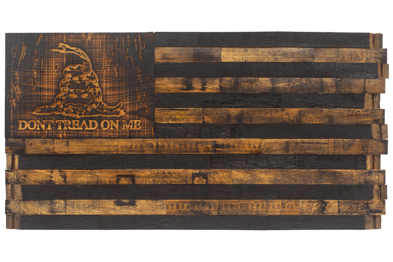 Wooden American Flag Wall Art barrel wood american flags - page 1 - the heritage flag